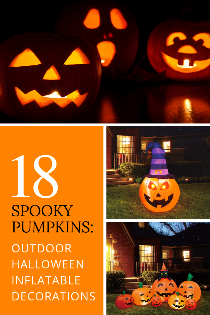 Image of: 18 Spooky Pumpkins Outdoor Halloween Inflatable Decorations Tubarks The Musings Of Stan Skrabut